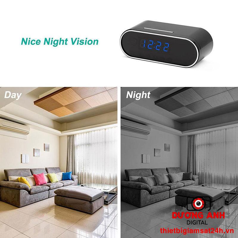 Đồng hồ camera vừa quan sát được vào ban ngày vừa có thể ghi hình sắc nét vào ban đêm
