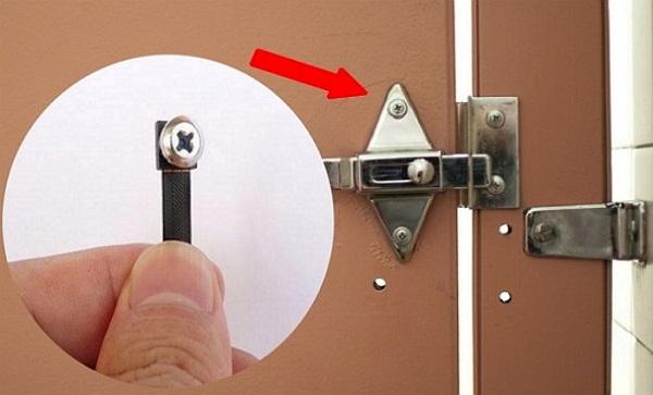Phía bên trong ốc vít cũng có thể là camera quay lén