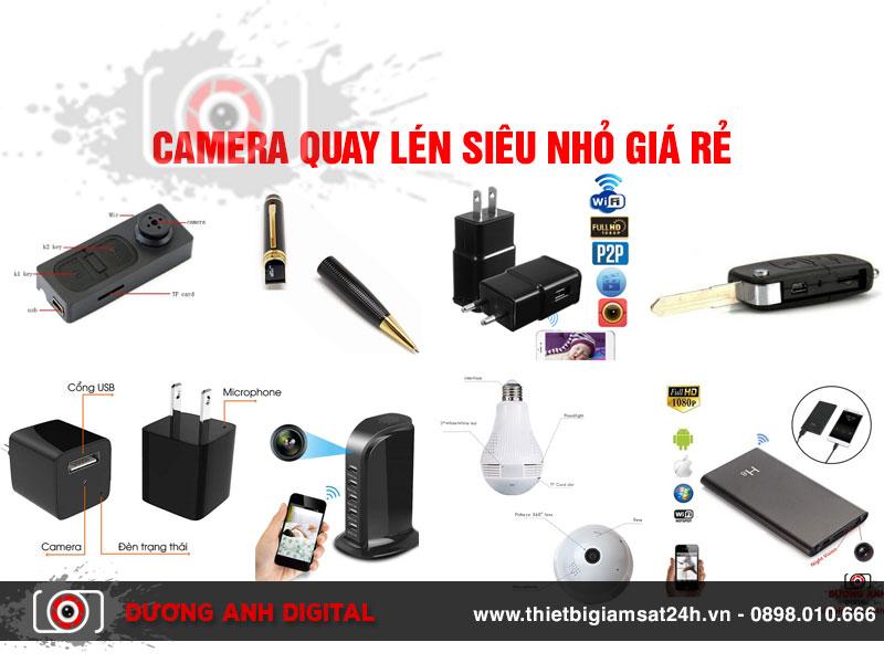Camera Quay Lén Siêu Nhỏ Giá rẻ