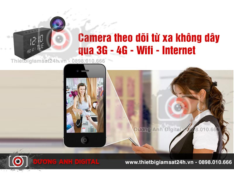 Camera theo dõi từ xa không dây qua 3G - 4G - Wifi Internet