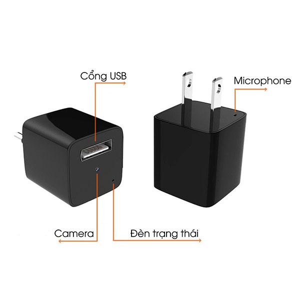 Củ sạc với thiết kế đầu cắm sử dụng được nhiều ổ cắm khác nhau