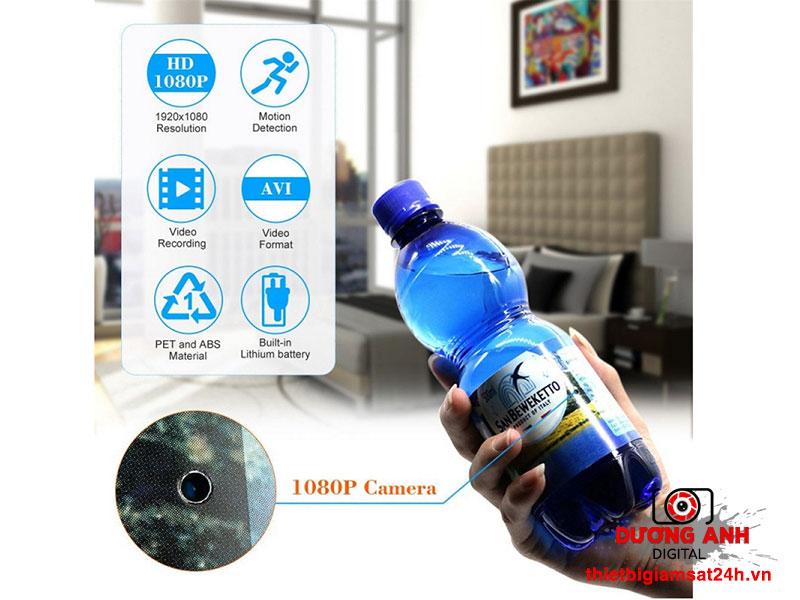 Camera ngụy trang chai nước với khả năng quay trộm thông minh