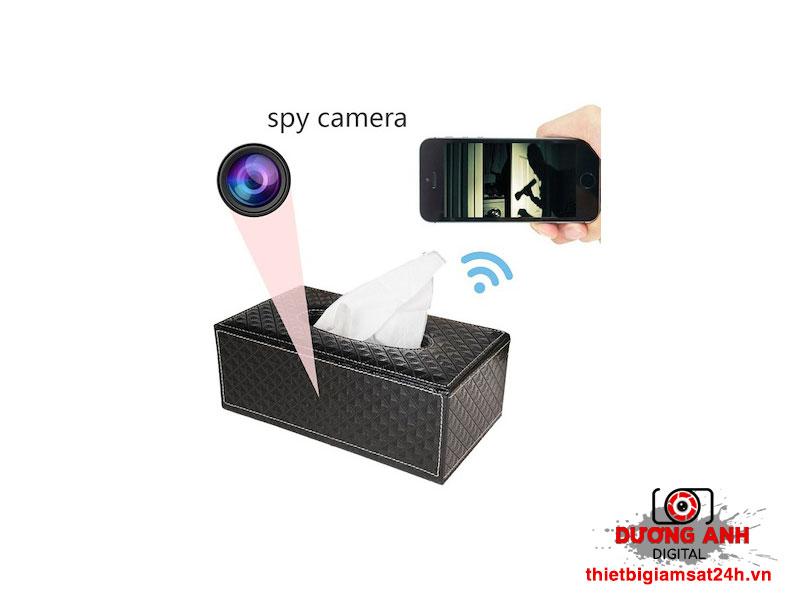 Camera Wifi ngụy trang hộp khăn giấy