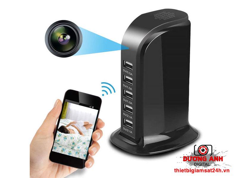 Camera ngụy trang Hub USB - Sạc điện thoại M8