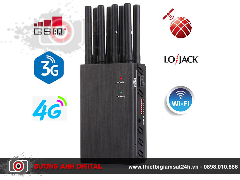 Thiết bị gây nhiễu sóng 8 anten SJ8