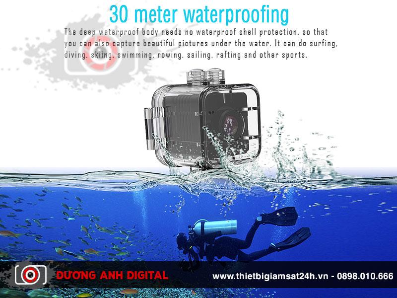 Camera có thể quay hình dưới nước mà không bị ảnh hưởng gì