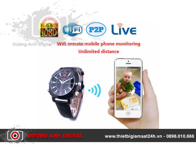 Camera ngụy trang đồng hồ đeo tay Wifi - Spy Watch 1080P