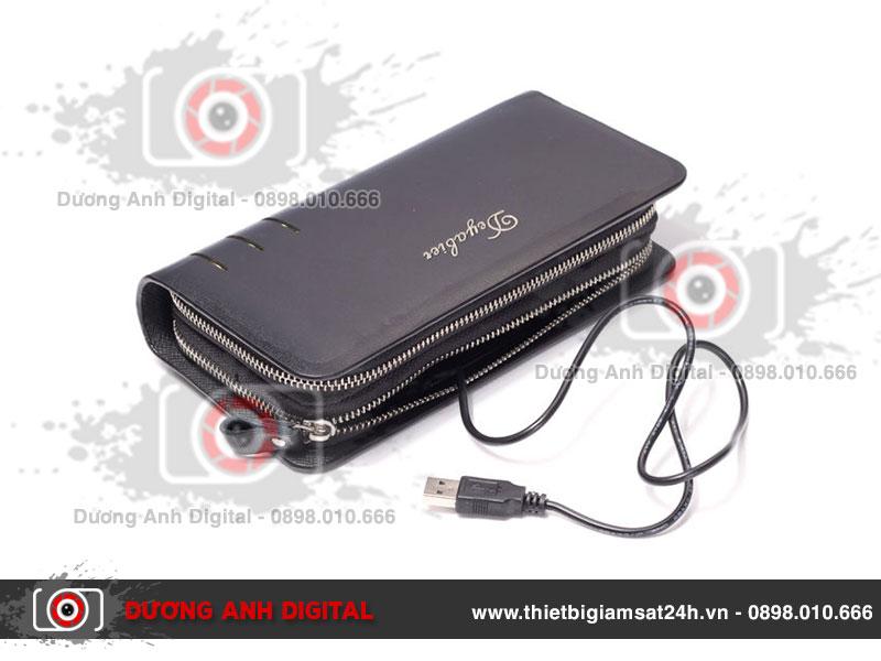 Camera ngụy trang ví da Baellery DA03 Full HD