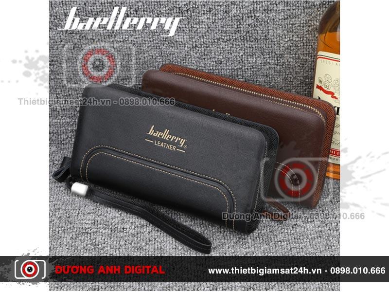 Camera ngụy trang ví da Baellerry Leather 4K Wifi