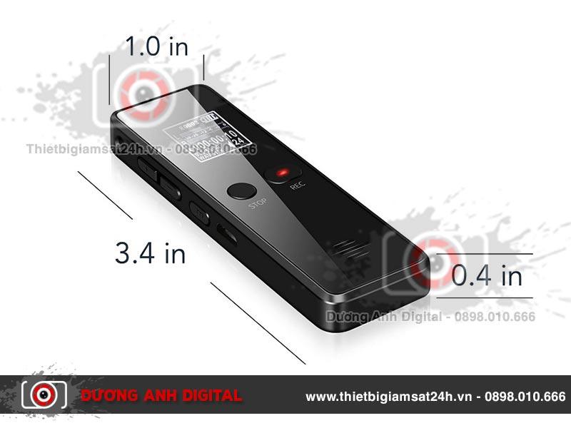 Máy ghi âm có kích thước nhỏ nhắn