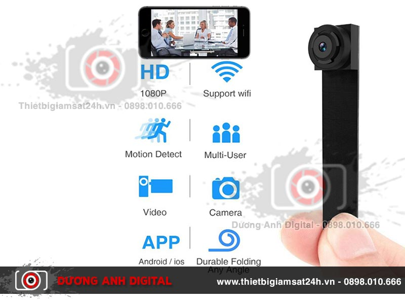 Camera mini siêu nhỏ S200 ghi lại hình ảnh, video sắc nét, chân thực