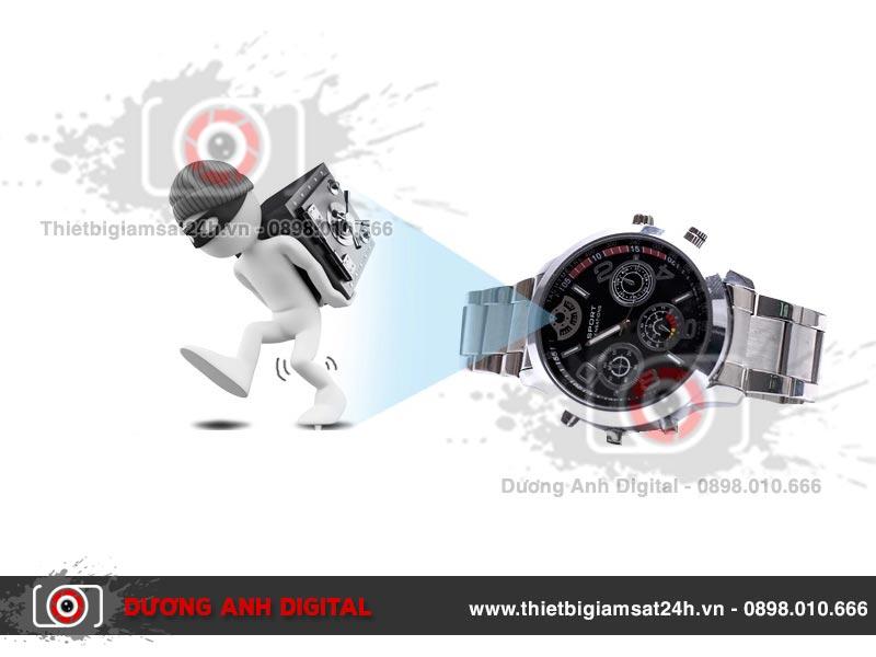 Camera ngụy trang đồng hồ đeo tay SW100 giúp giám sát mọi lúc mọi nơi