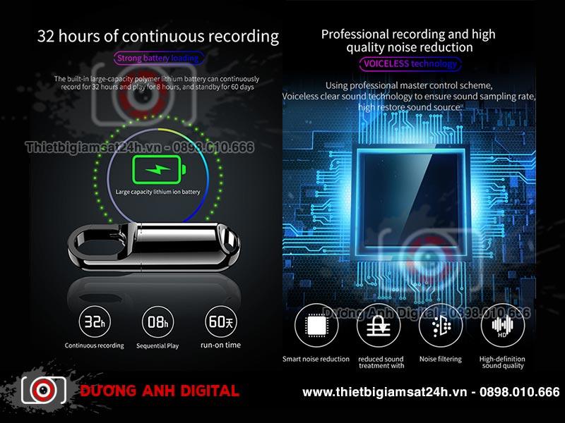 Máy ghi âm Kỹ thuật số ngụy trang Móc khóa SK573