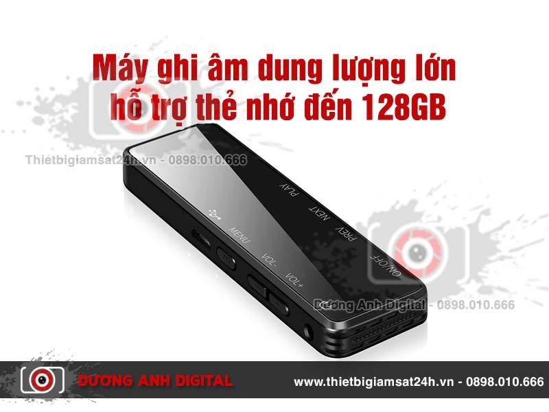 Máy Ghi Âm dung lượng lớn hỗ trợ thẻ nhớ đến 128GB