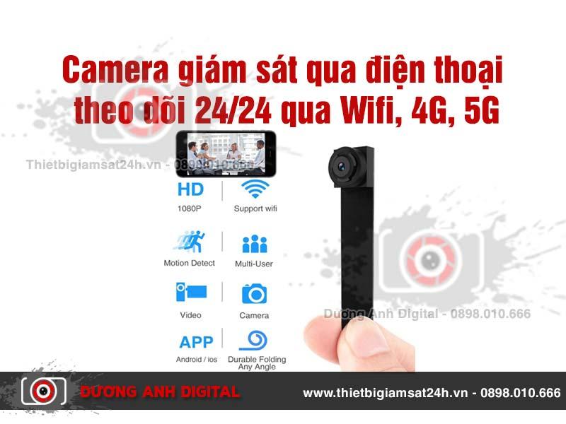 Camera giám sát qua điện thoại